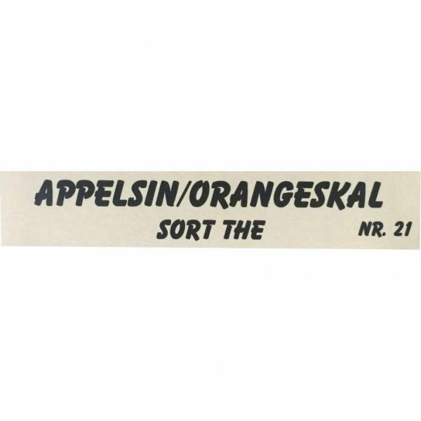 Appelsin/Orangeskal - Sort The - NR. 21
